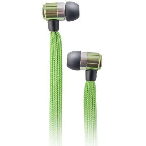 Słuchawki dokanałowe FOREVER Sznurówka z mikrofonem Zielony