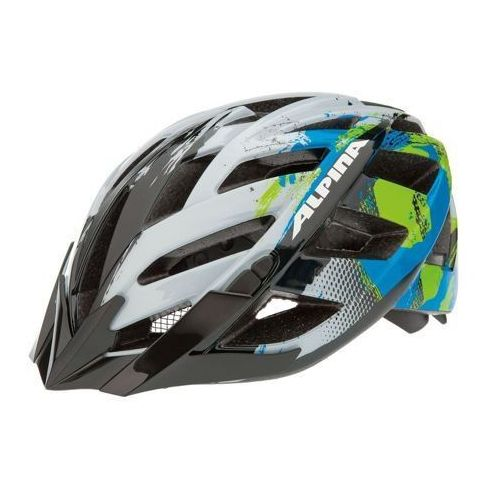 panoma - kask rowerowy, 52-57cm - white-cyan-green (52-57cm) marki Alpina