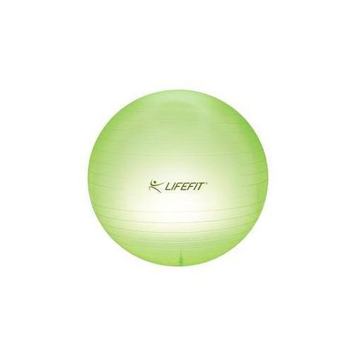 Lifefit Piłka gimnastyczna transparent 75cm - zielona