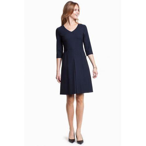 Sukienka w drobne grochy - Potis & Verso, kolor niebieski