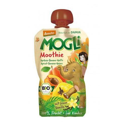 Mogli (moothie owocowe, batony, napoje) Moothie przecier morelowy z bananem, pigwą, wanilią bio 100 g - mogli (4260311980651) - OKAZJE