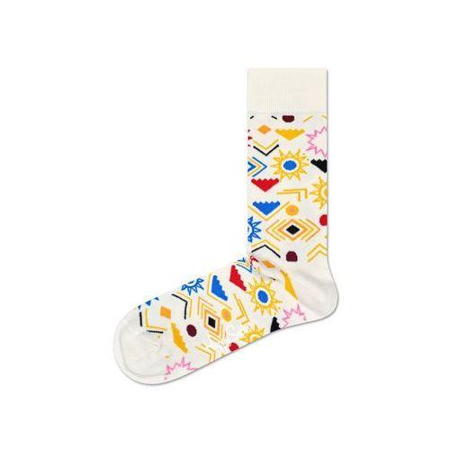 Happy Socks Sign Skarpetki Żółty Biały 36-40
