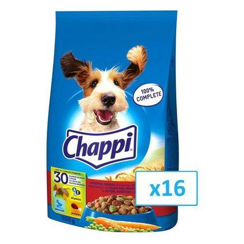 Chappi 8kg - sucha karma dla psów z wołowiną, drobiem i warzywami - darmowa dostawa od 95 zł!