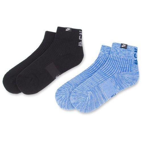Zestaw 2 par wysokich skarpet unisex - sx7170 911 czarny niebieski marki Nike