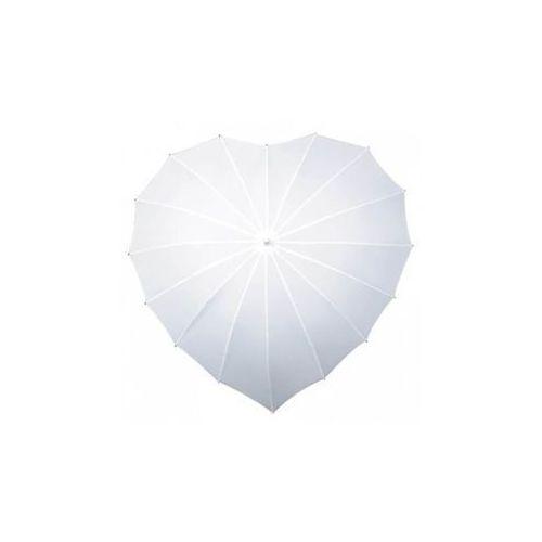 Parasol w kształcie serca biały- 1 szt.