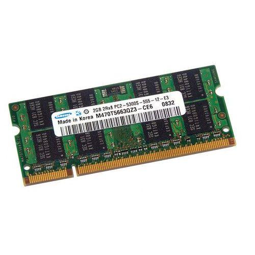 Pamięć RAM 1x 2GB SAMSUNG SODIMM DDR2 667MHz PC2-5300S M470T5663QZ3-CE6