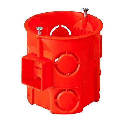 Elektro-plast nasielsk Puszka podtynkowa 60mm głęboka z wkrętami czerwona pk-60 pro 0285-01 (5901752632141)