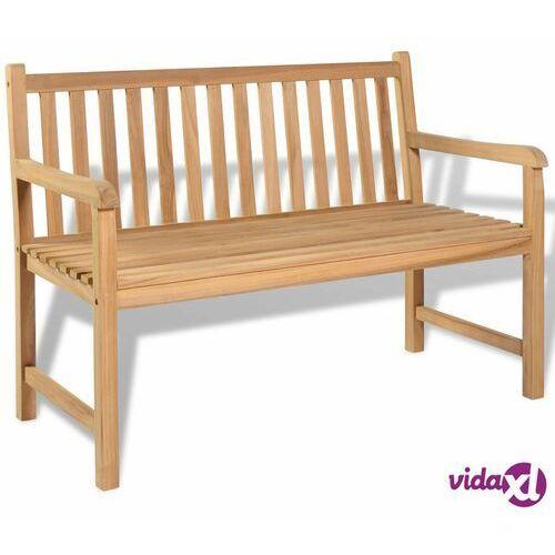 vidaXL Ławka ogrodowa, drewno tekowe, 120 x 62,5 90 cm, vidaxl_43246