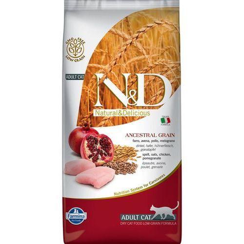 Farmina N&D Cat Low Ancestral Grain Adult, kurczak i owoc granatu - 1,5 kg