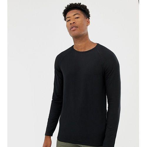 Burton Menswear Big & Tall muscle fit long sleeve top in black - Black