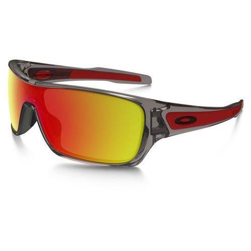Oakley turbine rotor okulary rowerowe szary/pomarańczowy 2018 okulary przeciwsłoneczne