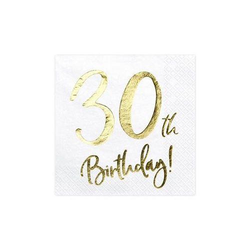SERWETKI 30th BIRTHDAY BIAŁE 20szt (5900779100718)