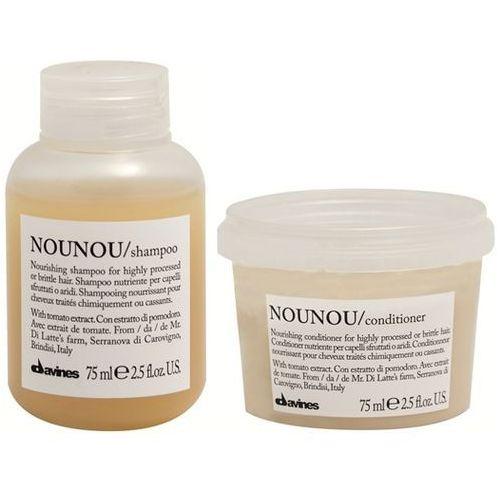 Davines Mini zestaw do włosów zniszczonych NOUNOU: szampon+odżywka 2x75ml (9753197531301)