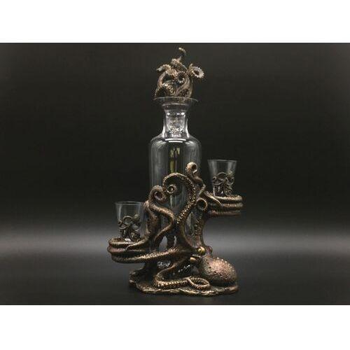 Veronese Steampunk karafka z kieliszkami i ośmiornicą (wu76986y4)