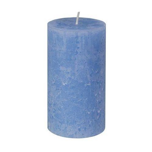 Świeca pieńkowa RUSTIC niebieska BOLSIUS (8717847109866)