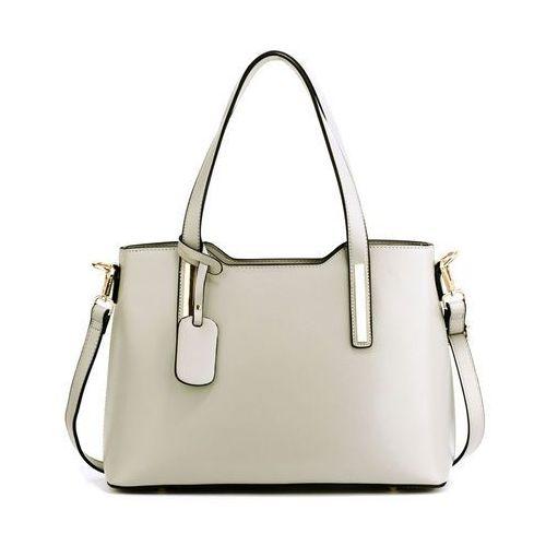 Klasyczna torebka damska na ramię jasny popiel - popielaty