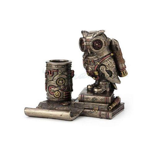 Steampunk sowa stojak na komórkę i długopisy wu77491a4 marki Veronese
