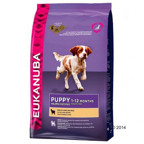 Eukanuba puppy & junior all breed lamb & rice 2x12kg (8710255120645)