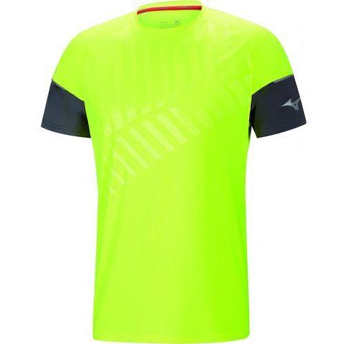 t-shirt męski shadow tee castlerock/safety yellow xl marki Mizuno
