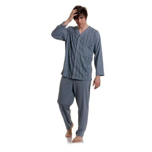 Piżama rozpinana męska 284 dł/r m-2xl rozmiar: 2xl, kolor: wielokolorowy, gucio marki Gucio