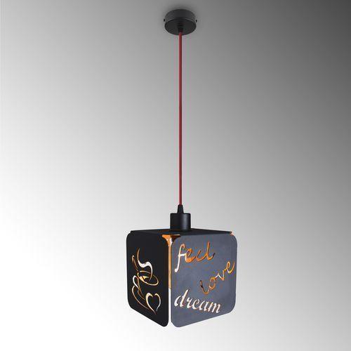 Lampa wisząca IDEA czarna / złoto 89117.05.12 - Imperium Light