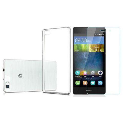 Etui silikonowe crystal 0.3mm guma do Huawei P8 Lite + Szkło hartowane