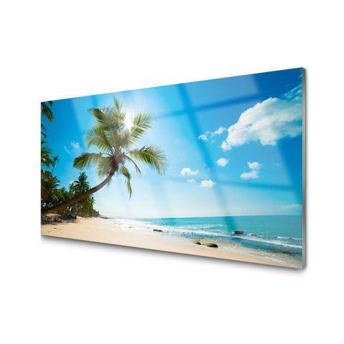 Tulup.pl Obraz akrylowy palma drzewo plaża krajobraz