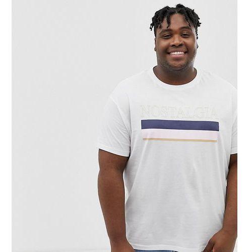 New Look Plus t-shirt with nostalgia print in white - White, w 2 rozmiarach