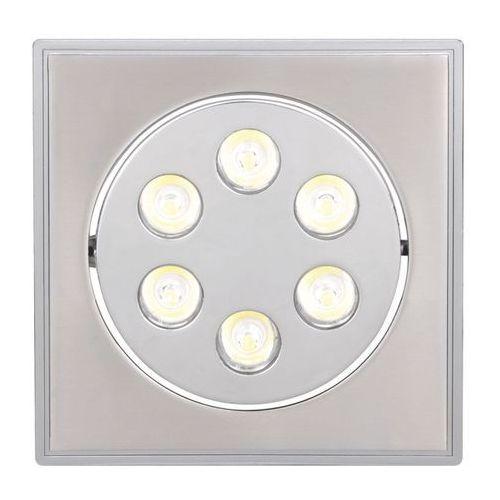 Ideus Oczko lampa sufitowa hl674l 01700 podtynkowa oprawa metalowa led 6w kwadratowy wpust satyna