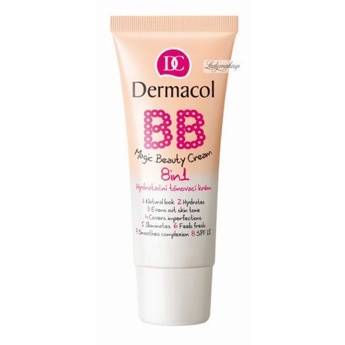 Dermacol  bb magic beauty tonujący krem nawilżający 8 w 1 nude (magic beauty cream 8in1) 30 ml