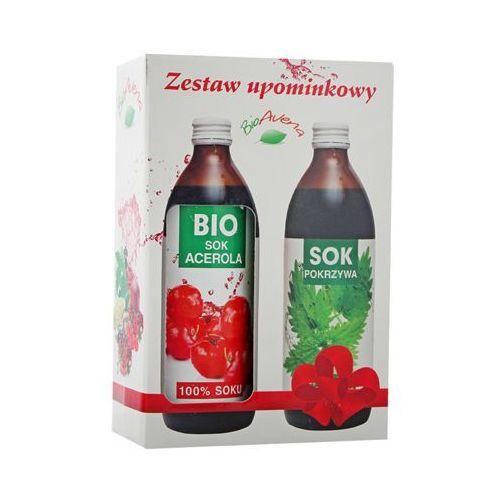 BIOAVENA Zestaw Sok Bio Acerola 500ml + Sok z pokrzywy 500ml