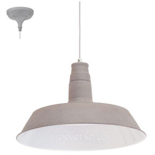 Lampa wisząca Eglo Somerton 49252 1 zwis 1x60W E27 fi36,5 szara (9002759492526)