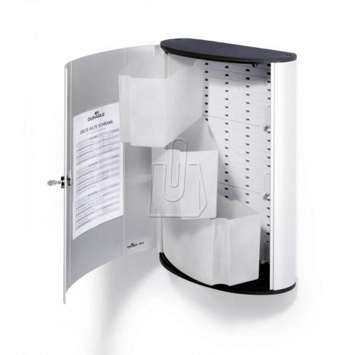 Durable Aluminiowa apteczka ścienna, 30x40x12 cm, bez zawartości