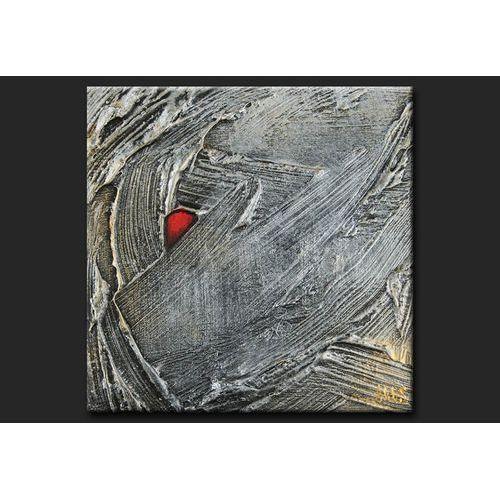 Obraz ręcznie malowany z gruby,mi srebrnymi strukturami