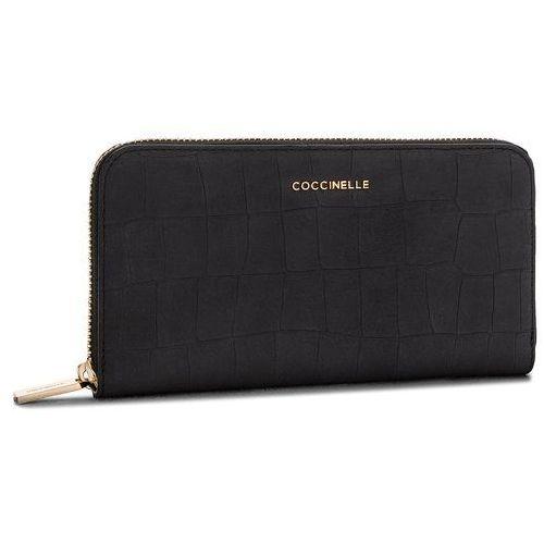 Duży portfel damski - cw7 metallic mat croco e2 cw7 11 04 01 noir 001 marki Coccinelle