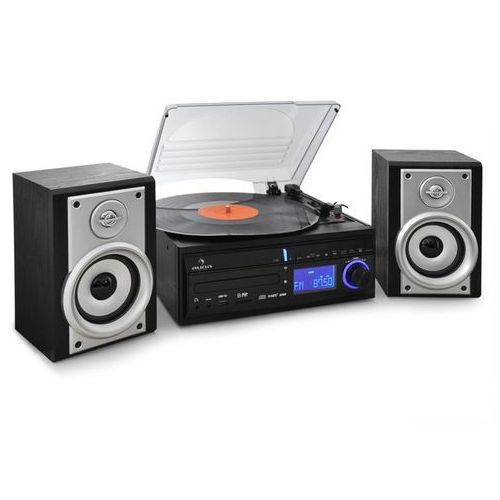 Auna ds-2 wieża stereo gramofon cd rekorder mp3 usb sd aux-in ukf/mf głośniki