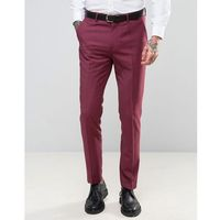 wedding skinny fit burgundy pink suit trousers - pink, Devils advocate