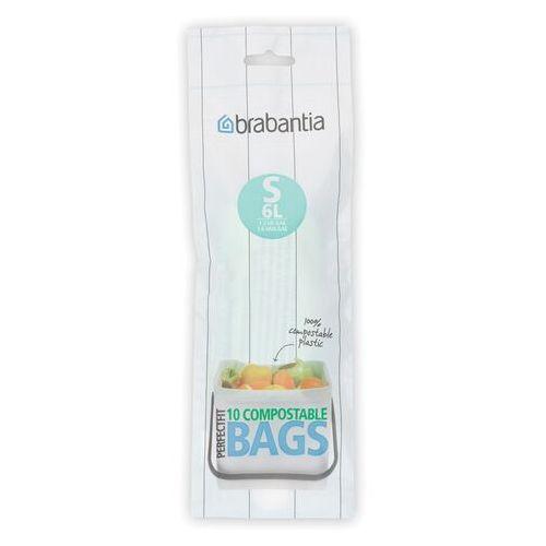 Worki na śmieci perfectfit bags biodegradowalne rozmiar s 6l 10 szt marki Brabantia
