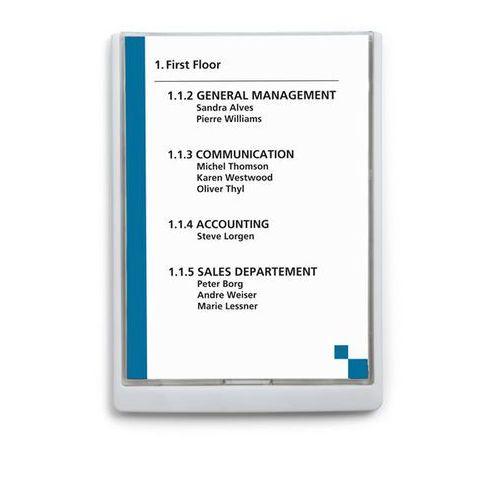 Tabliczka informacyjna, wys. x szer. x głęb. 325x235x15 mm, opak. 5 szt., biała. marki Durable