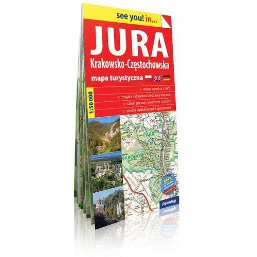 Jura Krakowsko-Częstochowska. Mapa turystyczna skala 1:50 000, oprawa miękka - OKAZJE