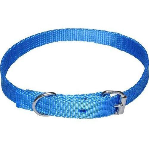 Chaba mocna taśmowa obroża dla psa gładka - obwód szyi 18cm-25cm - 18cm-25cm \ niebieski