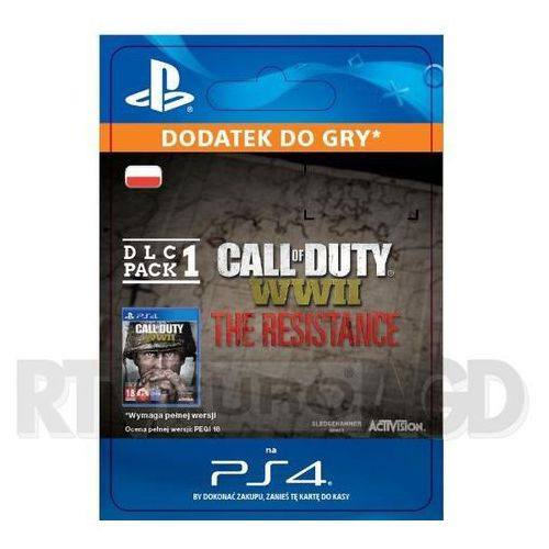 Call of Duty: WWII - The Resistance DLC Pack 1 [kod aktywacyjny], SCEE-XX-S0036421