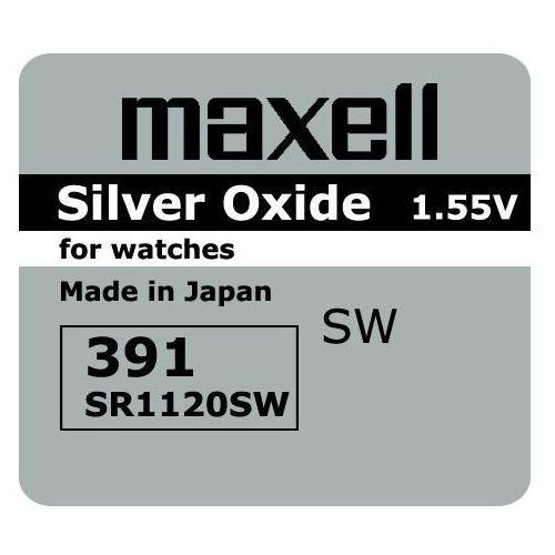 Bateria srebrowa mini 381 / 391 / sr 1120 sw / g8 marki Maxell