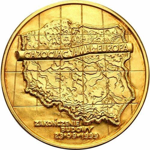 Złoty medal Gazociąg Jamał-Europa 1999 - wysyłka 24 h!