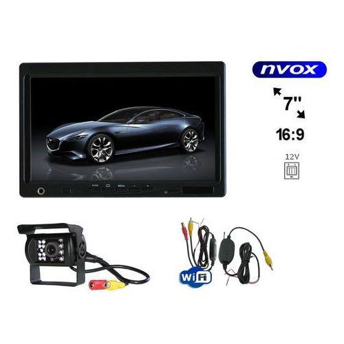 """Nvox Zestaw monitor zagłówkowy lub wolnostojący lcd 7"""" samochodowa kamera cofania i bezprzewodowy moduł wifi (5909182421687)"""