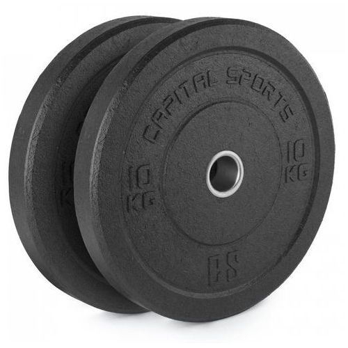 Capital sports renit hi temp obciążniki 50,4 mm rdzeń aluminiowy guma 2x 10 kg