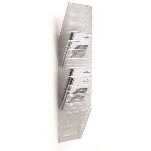 Durable Uchwyt ścienny na prospekty, format pionowy, 12 x din a4, opak. 2 szt., przezroc