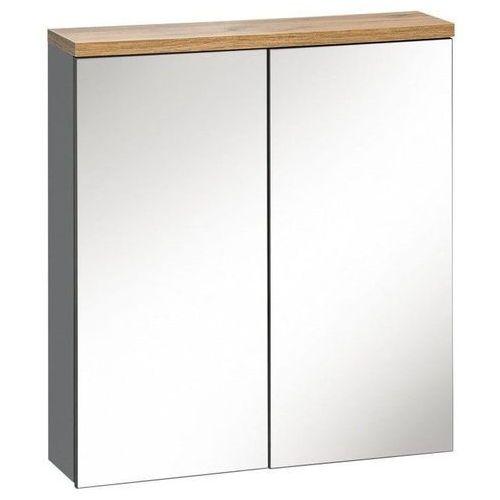 Comad Szafka łazienkowa z lustrem 60 cm bali grafit 840