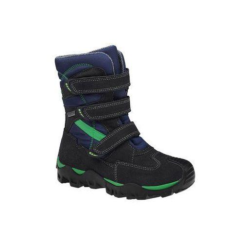 Trzewiki ocieplane śniegowce 94646-9/04p - multikolor ||granatowy ||niebieski ||zielony marki Bartek