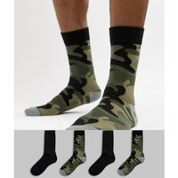 Jack & jones 4 pack classic camo and black socks - multi
